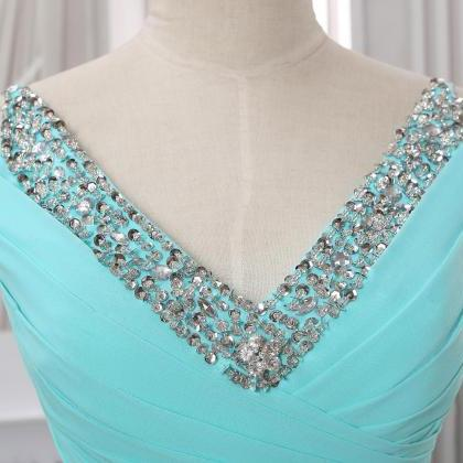 Custom long prom dress with beading..