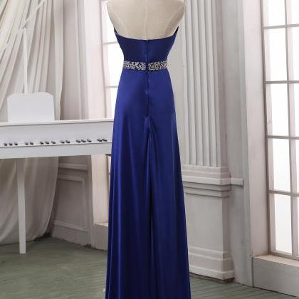 Prom dress,Navy blue long prom dres..